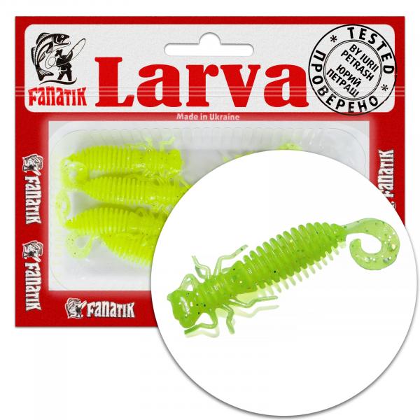 """Fanatik LARVA LUX 1.6"""" 2"""" 4.1cm 5cm Gummiköder Gummifisch mit Aroma Jig"""