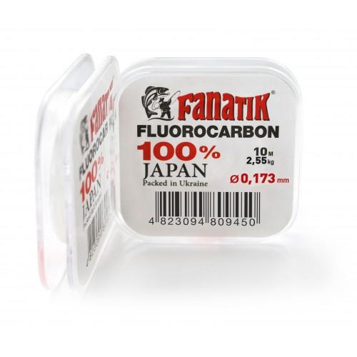 FANATIK Fluorocarbon Angelschnur 0.173 mm bis 0.378 mm Transparent